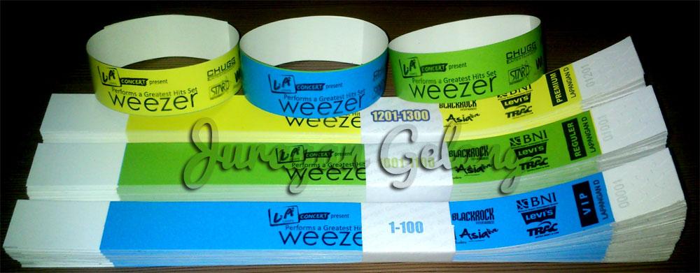 tiket gelang weezer